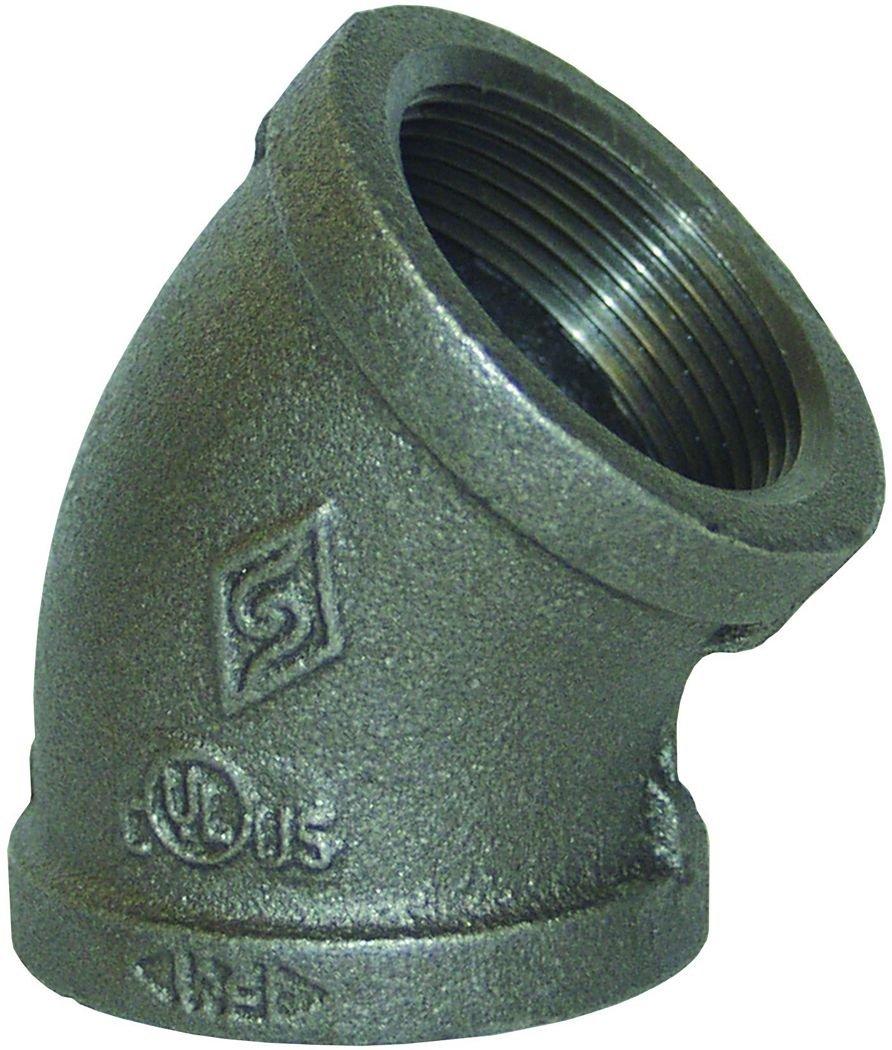 Dixon EL45250 2-1//2 FNPT 45/° Threaded Elbow 150# Iron 2.5 ID 2.5 ID