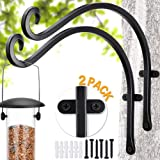 Qiang Ni Bird Feeders Hanger (2 Pieces/12 Inch) Outdoor Plant Hanging Bracket More Stable and Sturdy Hanging Plant…