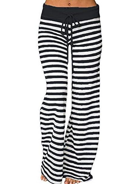 Amazon.com: ULIAN pantalones de yoga para mujer, cómodos, a ...