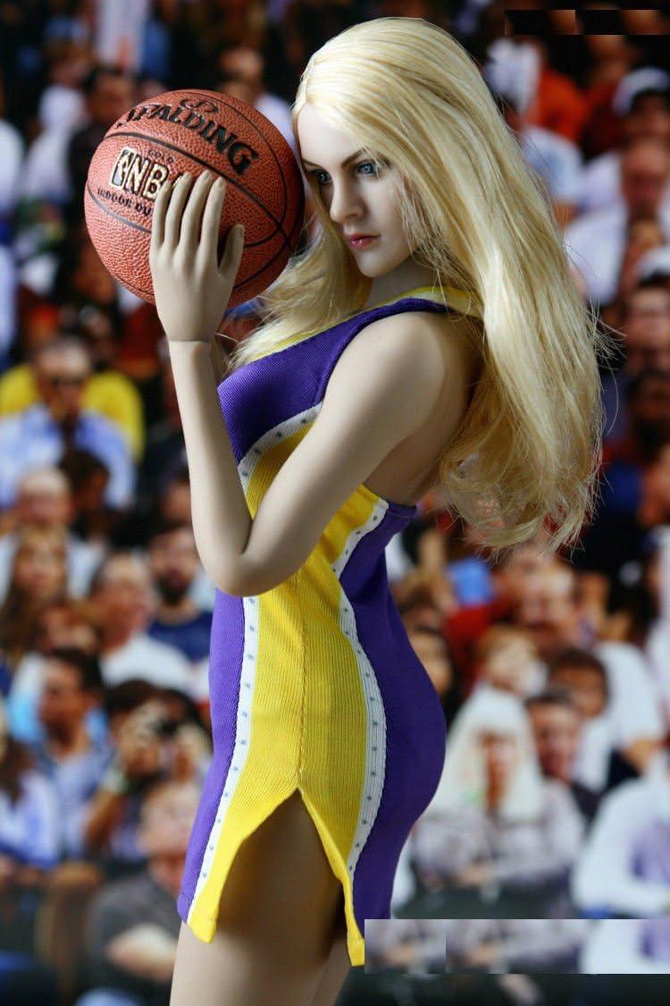 """1//6 NBA Lakers Giallo Cheerleader vestito per PHICEN Toys 12/"""" Figura HOT ❶ noi venditore ❶"""