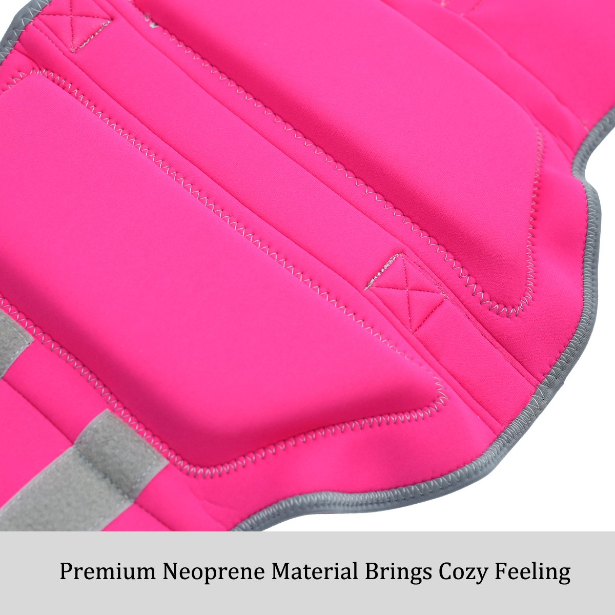 Vivaglory Pet Life Vest, Skin-Friendly Neoprene Dog Safety Vest with Superior Buoyancy and Rescue Handle, Reflective & Adjustable, Pink, Medium by Vivaglory (Image #4)