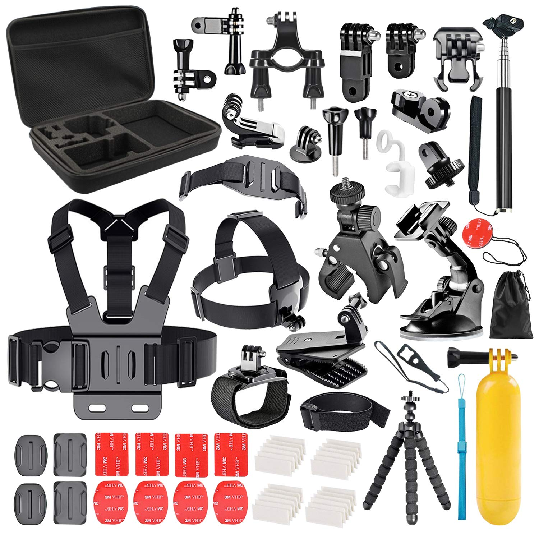 4 5 SJ4000 SJ7000 DBPOWER AKASO VicTsing APEMAN WiMiUS Rollei QUMOX Lightdow Campark And Sony Sports DV Followsun 60-In-1 Sports Action Camera Accessories Kit for GoPro Hero Session//5 Hero 1 2 3 3