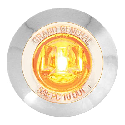 """GG Grand General 75221 1-1/4"""" Dual Function Mini LED Light with Chrome Plastic Bezel for Trucks, Trailers, ATVs, UTVs, RVs and more – Amber/Clear: Automotive"""