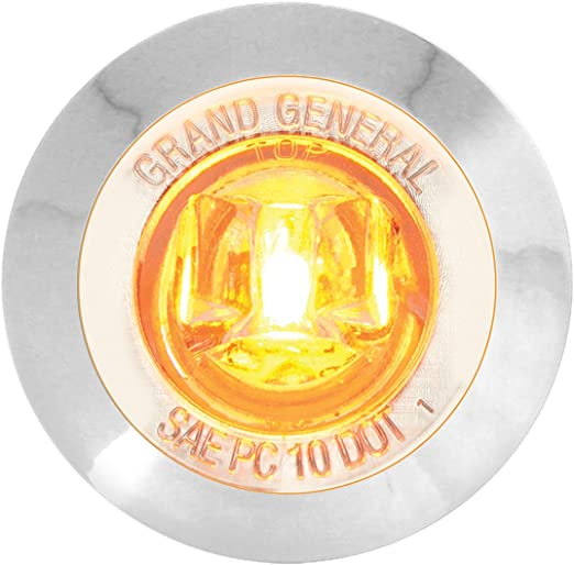 GG Grand General 75270 1 inch Dual Function Mini Wide Angle LED Light with Chrome Plastic Bezel for Trucks ATVs UTVs Trailers RVs