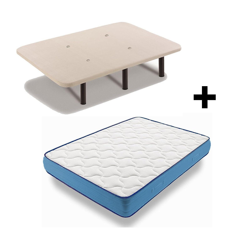 Colchón Viscoelástico Viscorelax + Base Tapizada Con 6 Patas De 26 cm, 135x190 cm: Amazon.es: Juguetes y juegos