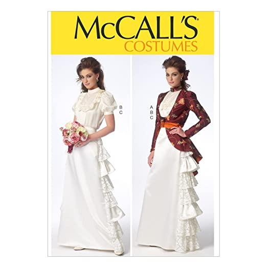 Steampunk Sewing Patterns- Dresses, Coats, Plus Sizes, Men's Patterns McCalls Misses Costume Pattern - Size: A5 (6-8-10-12-14) - Pattern Number: M7071 $9.99 AT vintagedancer.com