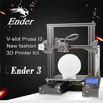 YA Creality 3D Ender-3 Impresora 3D Kit de Bricolaje V-Slot prusa ...