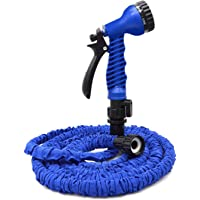 VC-Time Garden Hose, Water Hose, 25/50FT Expandable Garden Water Hose, Double Latex Core - Extra Strength Fabric Protection - 7 Functions Spray Nozzle, Collapsible Hose for Flowers and Plants