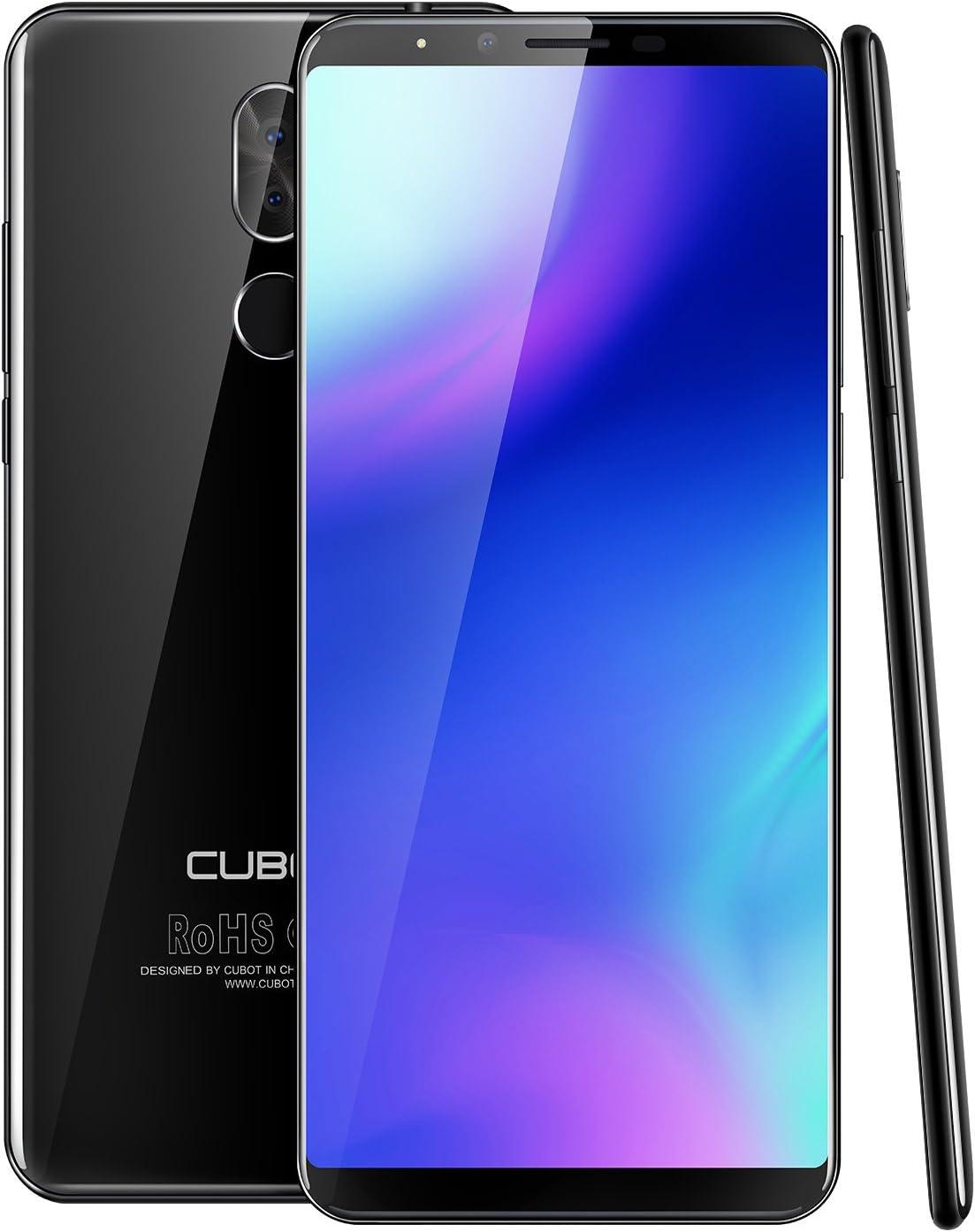 CUBOT X18 Plus Smartphone 4G Telefono Móvil con Pantalla de 5.99 Pulgadas 18:9 FHD + 2160 * 1080 Android 8.0 Octa Core 4GB +64 GB Dual Cámaras traseras 4000mAh Batería Dual SIM Huella Digital Negro: Amazon.es: Electrónica