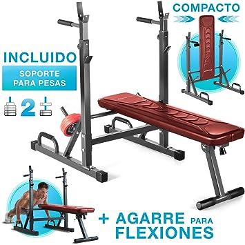 Sportstech 21en1 Banco de Pesas Innovador con Soporte para Pesas y ...