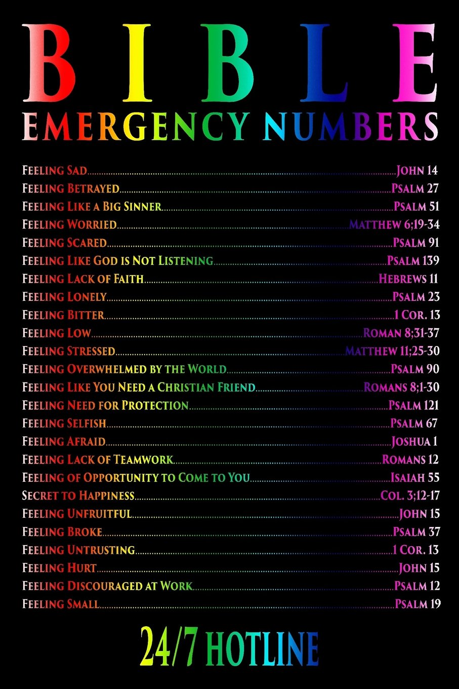 Bible Emergency Numbers 24 7 Hotline Funny Christian Motivational Bible Verse Gift Notebook Publishing Creative Juices 9781720490128 Amazon Com Books