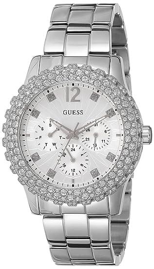 Guess W0335L1 - Reloj de pulsera mujer, acero inoxidable, color plateado: Amazon.es: Relojes