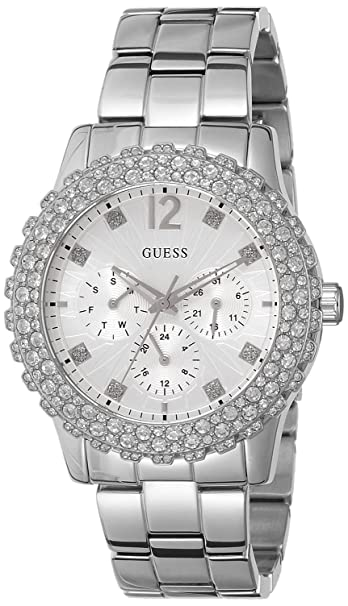 Amazon.com: Guess W0335L1 - Womens Wristwatch, Stainless Steel, color: Silver: Watches