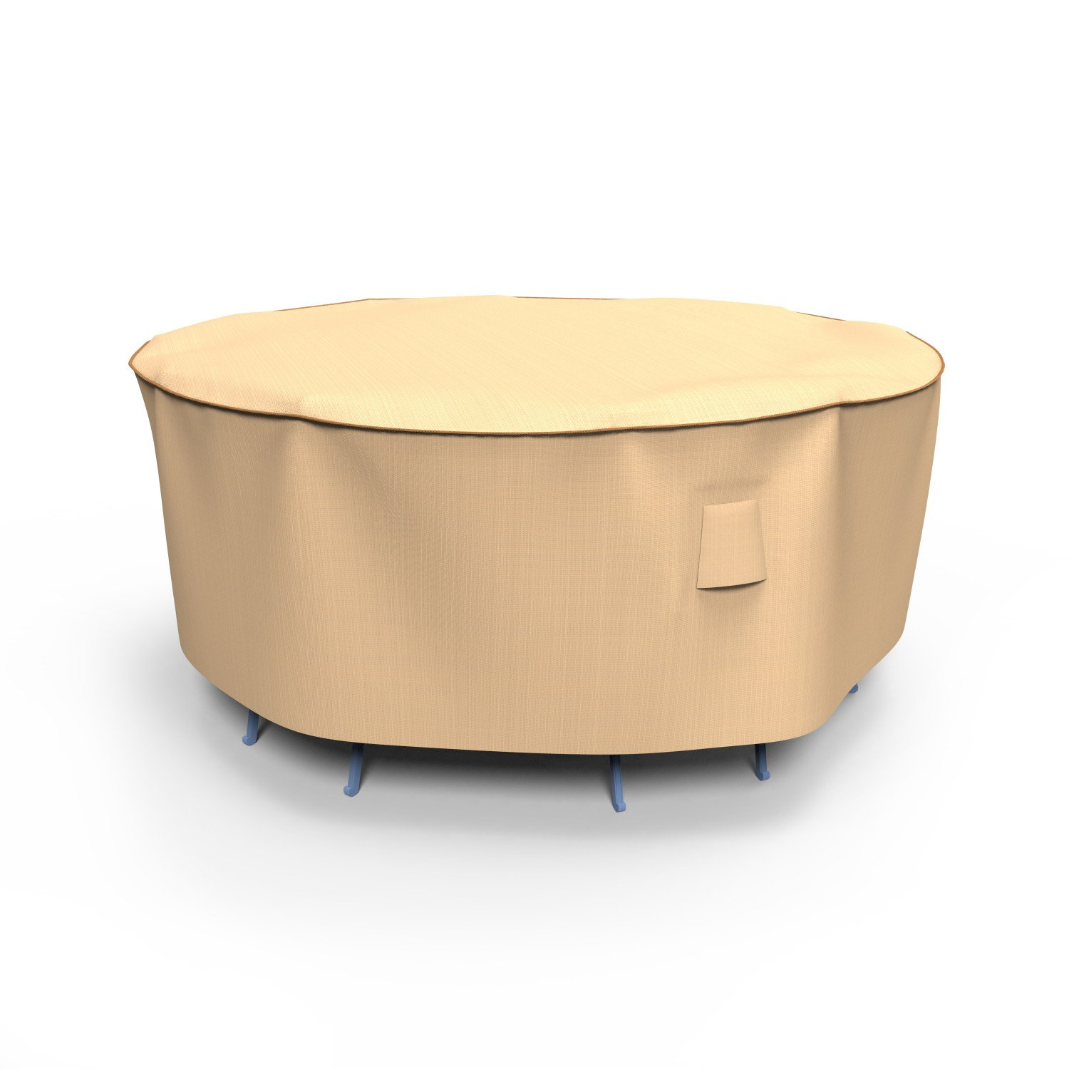 Budge Chelsea Round Patio Table and Chairs Combo Cover, Small (Tan)