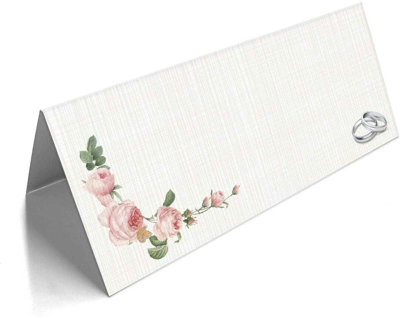 Table Design 1, Pack of 50 Name Place Cards Blank Plain for Wedding Christmas Conference Parties