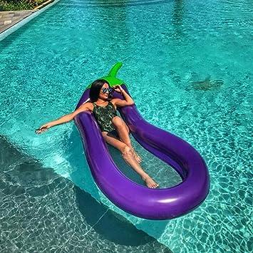 2018 Nuevo Inflable Gigante Flotador Piscina Lounger Del Juguete Del Agua Para Adultos Niños 270X110cm (Berenjena Gigante) Ourdream: Amazon.es: Deportes y ...