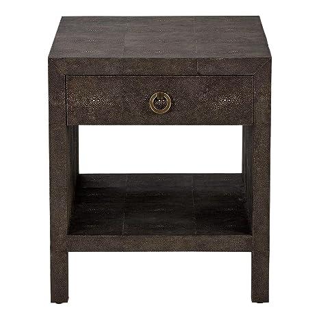 Amazon.com: Ethan Allen Emmy granulado mesa auxiliar, otro ...