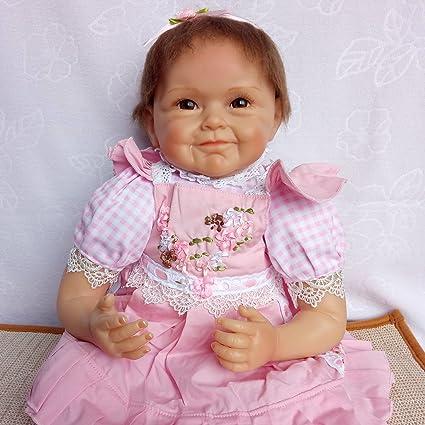 Amazon.es: ZIYIUI Reborn Baby Dolls 45cm 18 Pulgadas Suave Vinilo de ...