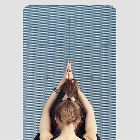 JKK India Yoga Line Tpe Position Mat Grueso 6Mm Almohadillas ...