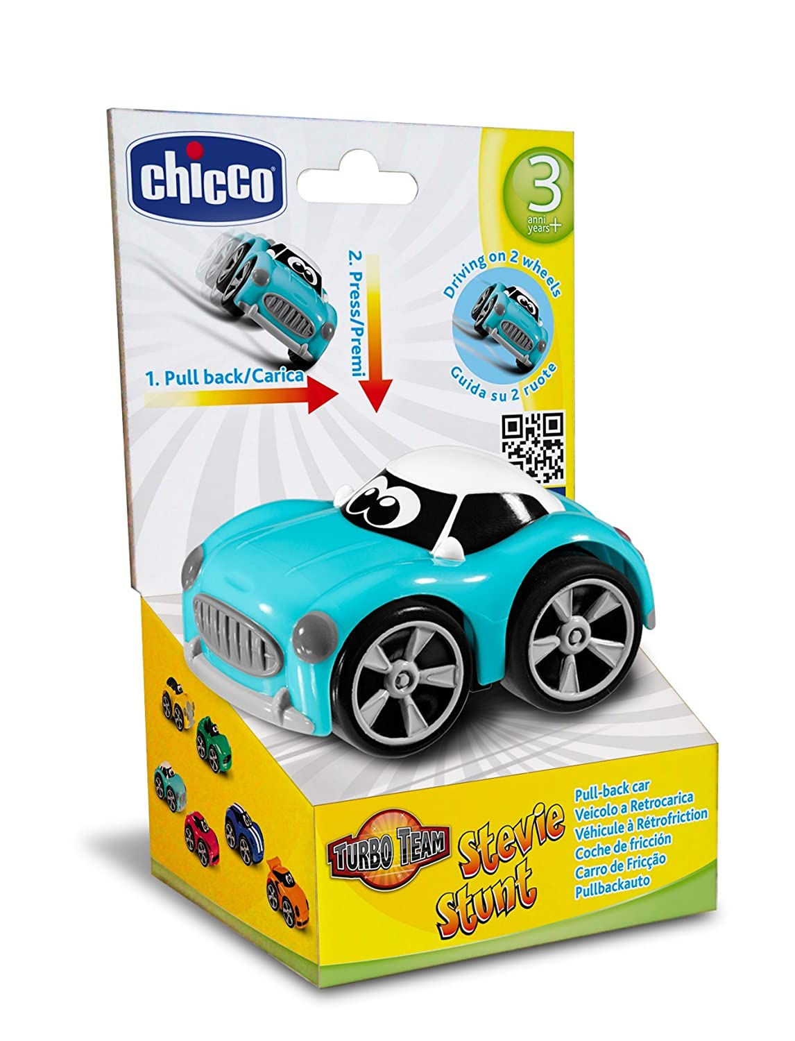 Amazon.com: Chicco Turbo Touch Game Stunt Color Blue: Health & Personal Care