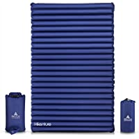 Hikenture Double Camping Pad 2 Persons Sleeping Mattress - Queen Size Inflatable Air Mat - Lightweight and Compact - for…