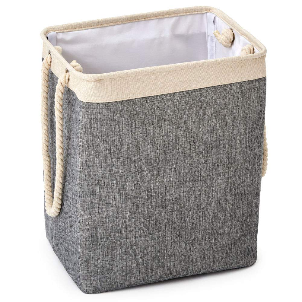 Meerveil Laundry Baskets Collapsible Dirty Clothes Baskets Storage Basket with Handles Clothes and Toys Storage Baskets Gray