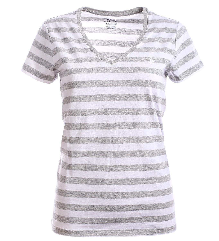 100% authentic 0b6e2 7997e delikat Ralph Lauren Polo Damen V-Neck Shirt T-Shirt Grau ...