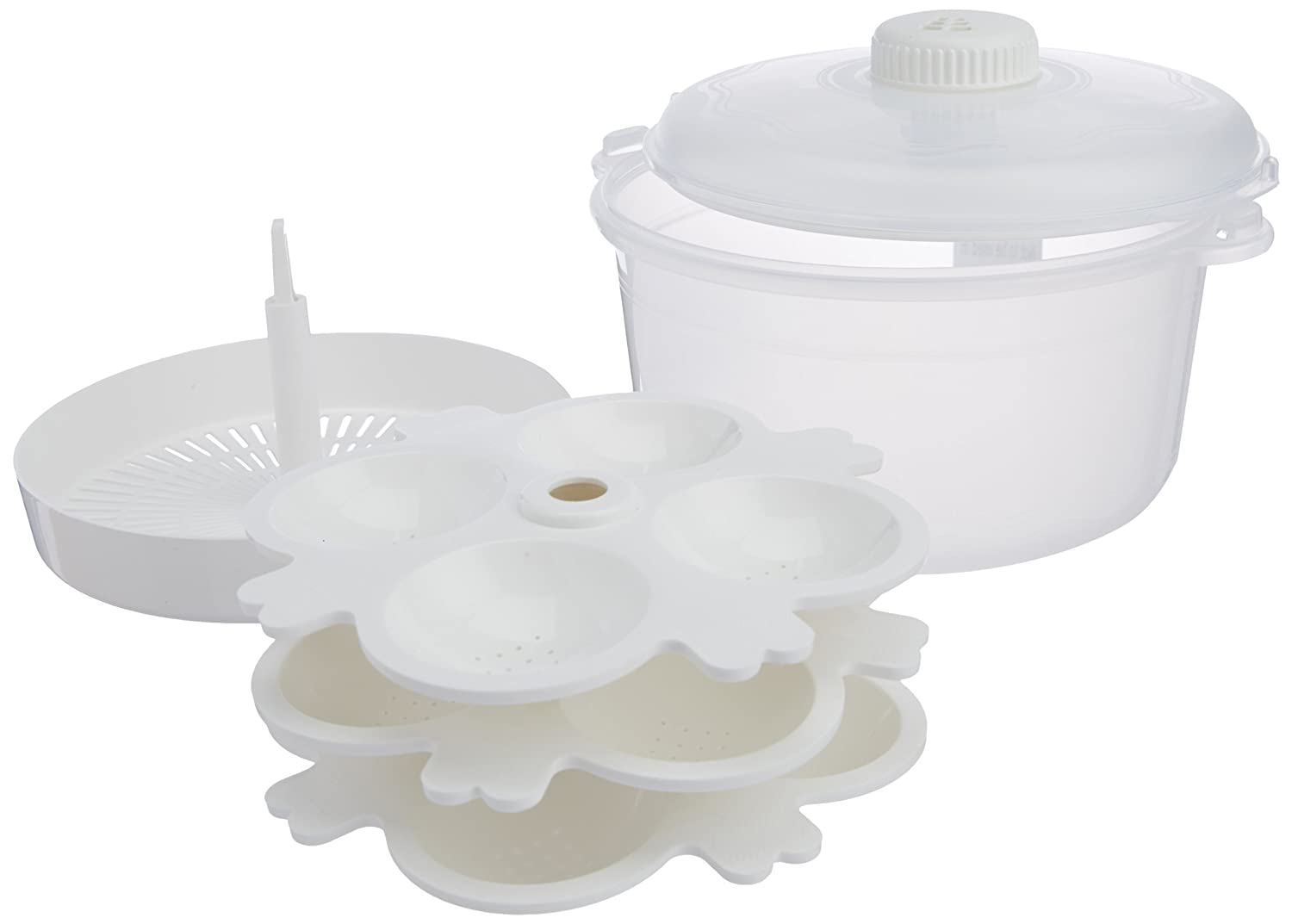 Buy Signoraware Microwave Cooker Set 3 Litres 7 Pieces White Signora Quick Steamer Online At Low Prices In India