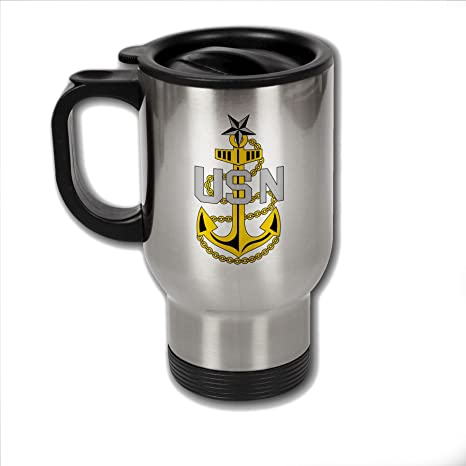 Amazon.com: Taza de café de acero inoxidable con U.S. Navy ...