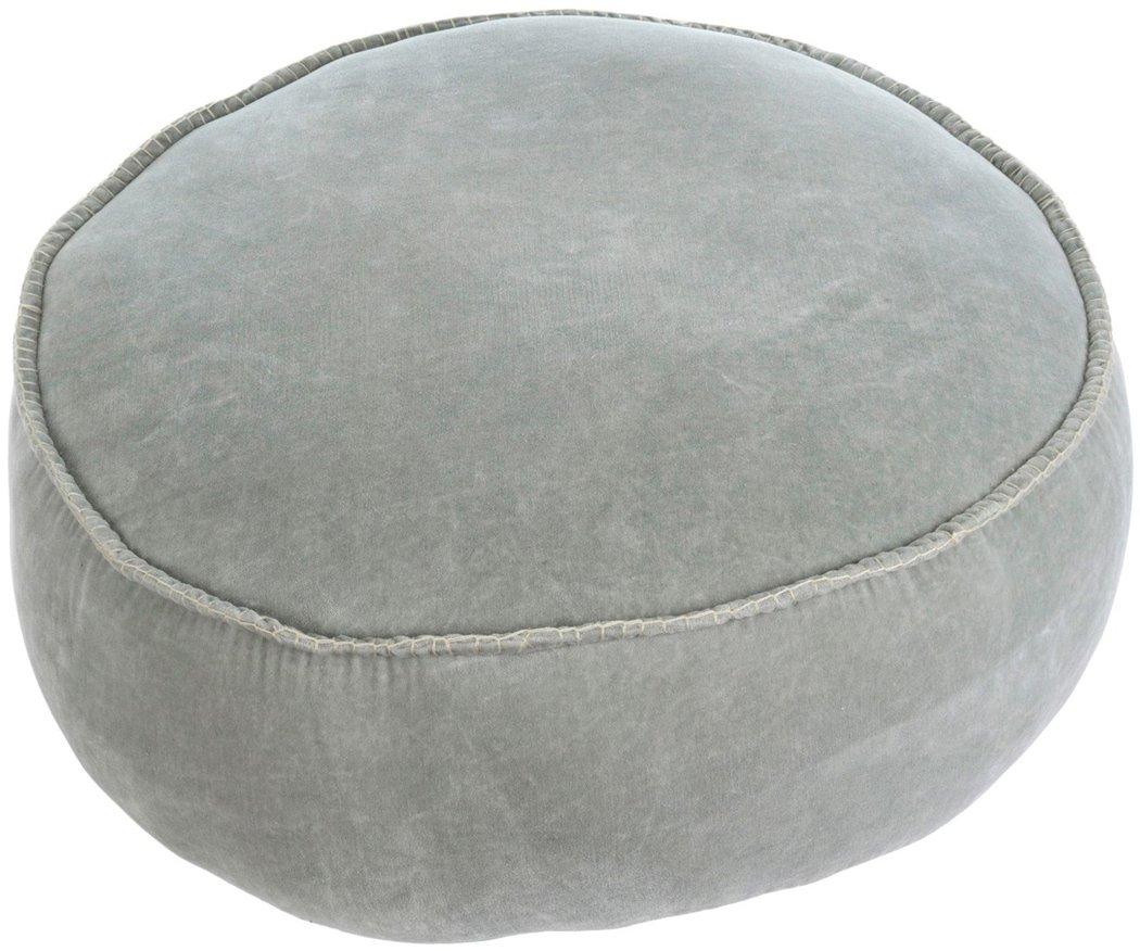Indaba Celadon Velvet Stitch Pouf Floor Pillow