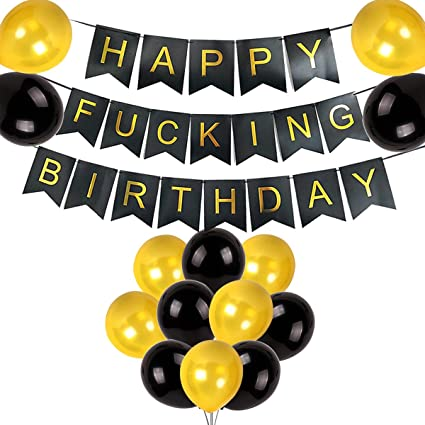 Amazoncom Happy Fucking Birthday Party Decorations Pack Happy
