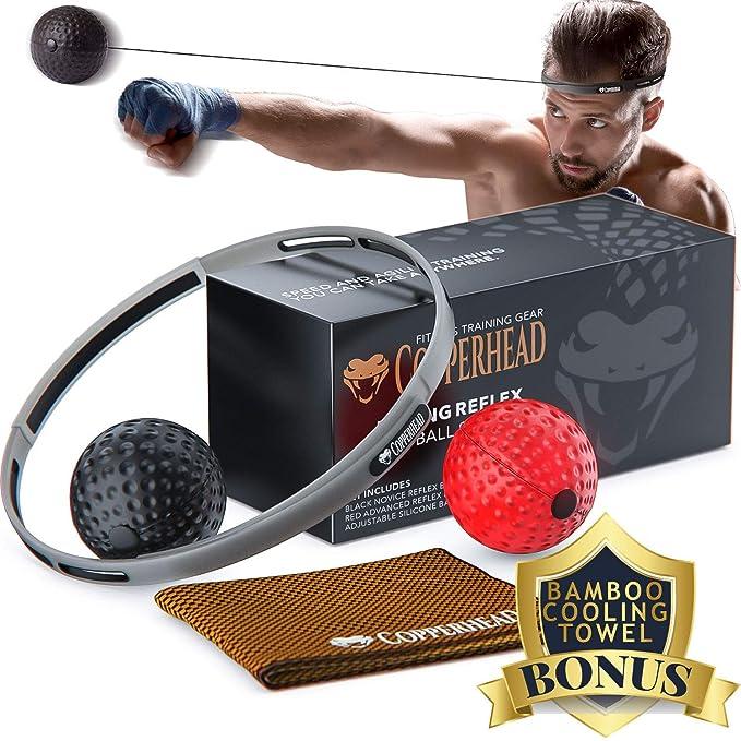 Amazon.com: Copperhead Boxing Reflex - Banda de cabeza de ...
