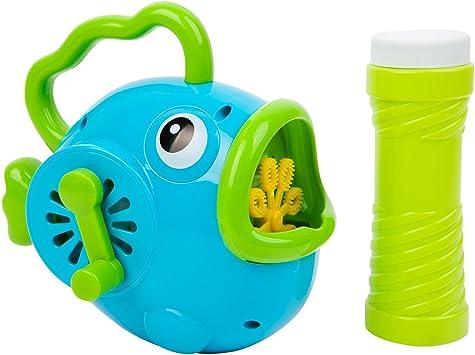 SunnyLIFE Pilas automáticos Niños Ventilador de la Burbuja de Juguete Pescado Azul Grande: Amazon.es: Juguetes y juegos