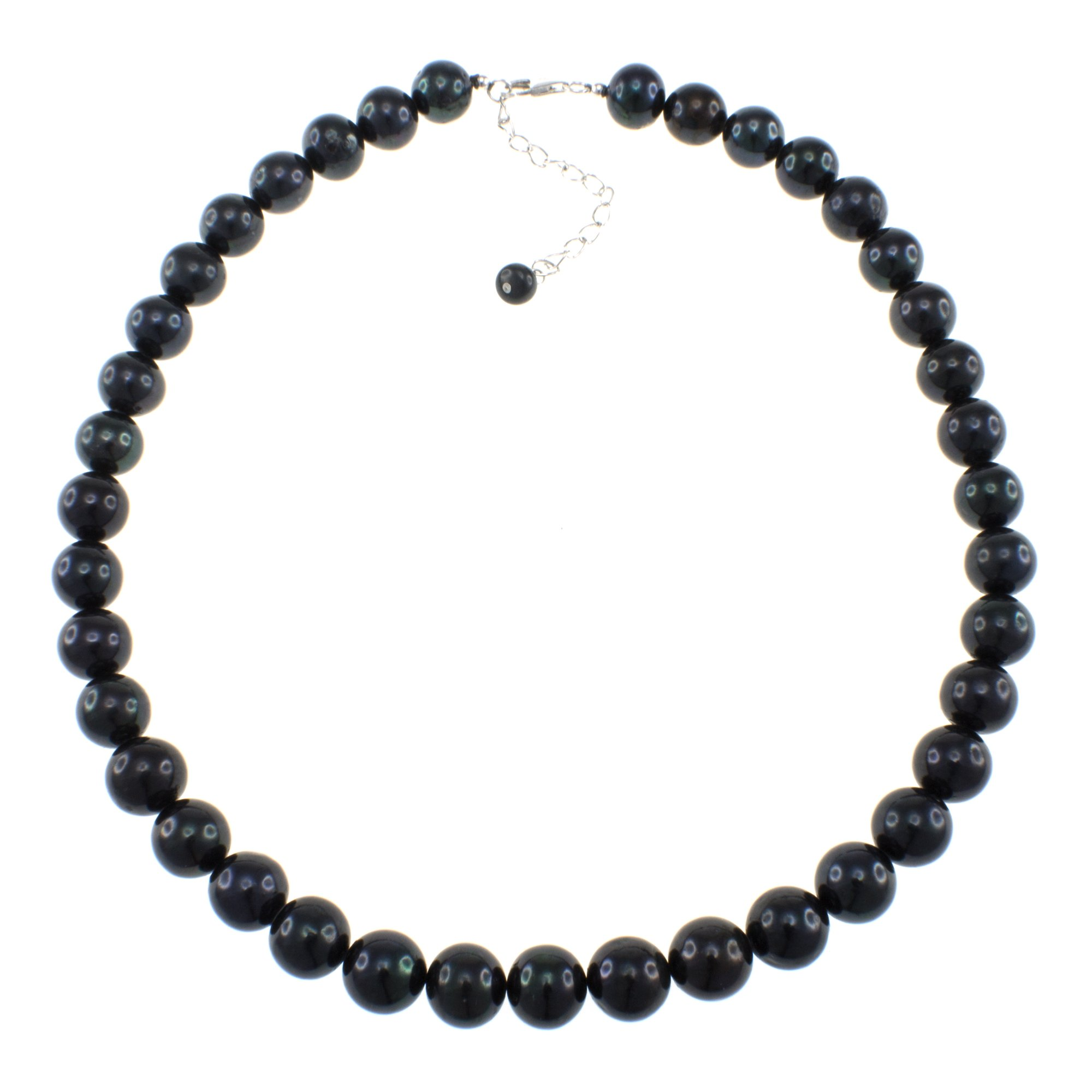 Natural Black Freshwater Cultured Pearl Strand Handmade Necklace for Women