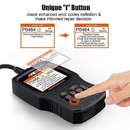 ANCEL EU510 OBD II Lector de códigos de Modo OBD Completo escáner de Errores de Motor de vehículo con función de comprobador de batería: Amazon.es: Coche y ...
