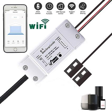 Garage Door Opener App >> Smart Wifi Remote Compatible Garage Door Opener App Control Using