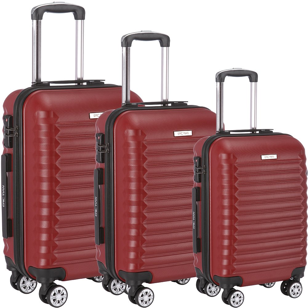 Luggage Set 3 Piece ABS Trolley Suitcase Spinner Hardshell Lightweight Suitcases TSA by ERIC YIAN (Image #1)