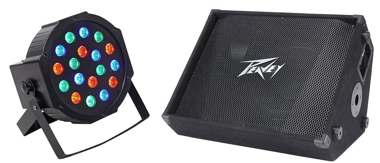 Peavey PV 12M 1000 Watt Two Way 12 Stage/Floor Monitor Speaker PV12M+Wash Light PV12M+RockPAR50