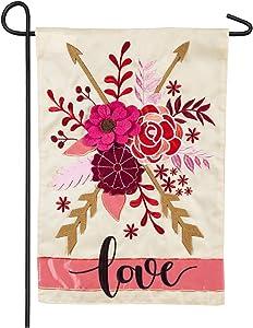 Valentine's Love Garden Applique Flag - 13 x 1 x 18 Inches