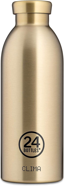 24 Botellas Botella Clima 330 ML//500 ML//850 ML Colores Diferentes 12h Cold 24h Hot 330 ML Black Marble con pluma /'Lieblingsmensch/'