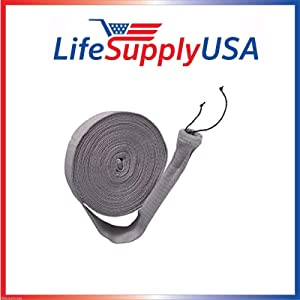 LifeSupplyUSA Pack of 2 Central Vacuum Knitted Hose Sock Covers with Application Tube - 30 ft, 30 feet Length,