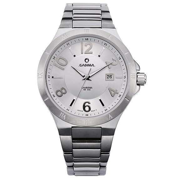 Casima 316 Acero inoxidable esfera blanca 3 manos barato para mujer relojes # 5103-s8