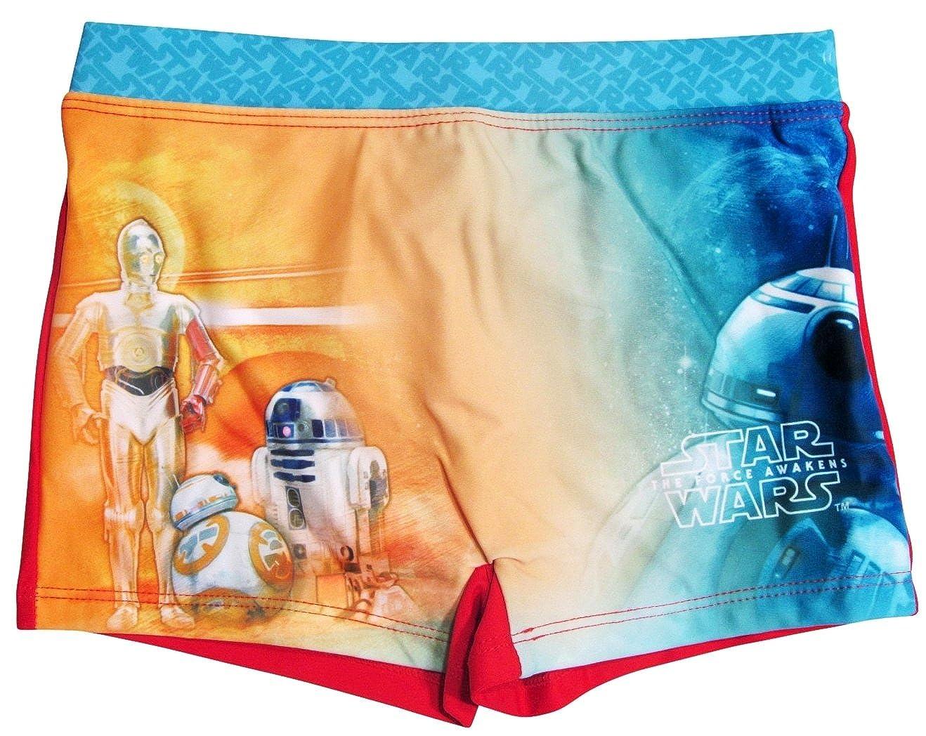 Star Wars Badeshorts Jungen Badehose BB8 Blau)