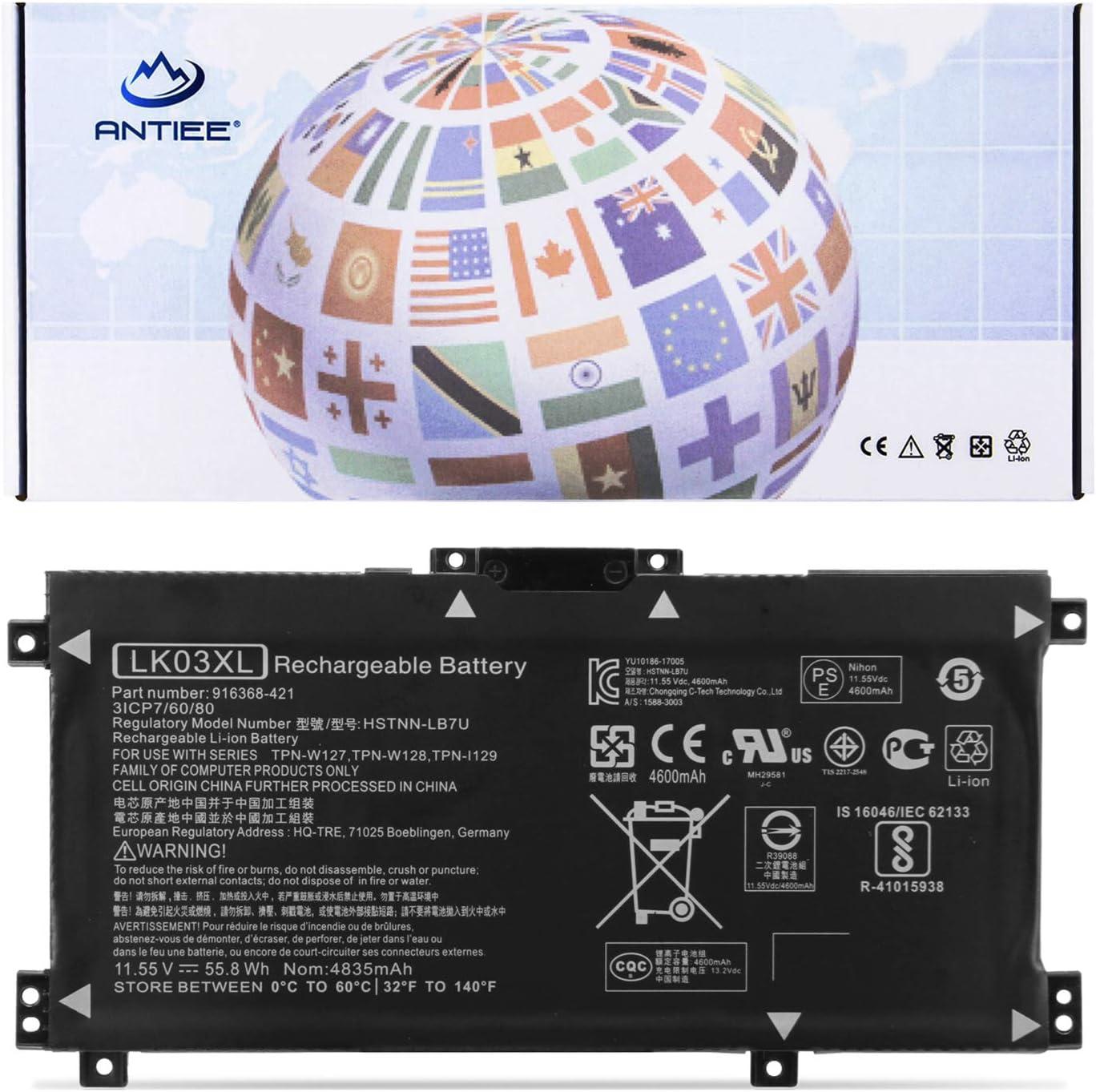 ANTIEE LK03XL Battery for HP Envy X360 Convertible 15-BP 15M-BP 15-BQ 15M-BQ 15M-CN 15M-CP 17-AE 17M…