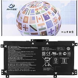 ANTIEE LK03XL Laptop Battery for HP Envy 17 17-AE143NG 17M-AE0XX 17M-AE011DX 17M-AE111DX 17T-AE100 Envy X360 15M-BP000 15-BP000 15-BP107TX 15M-BP012DX 15-BP100TX HSTNN-UB71 916368-541 916814-855
