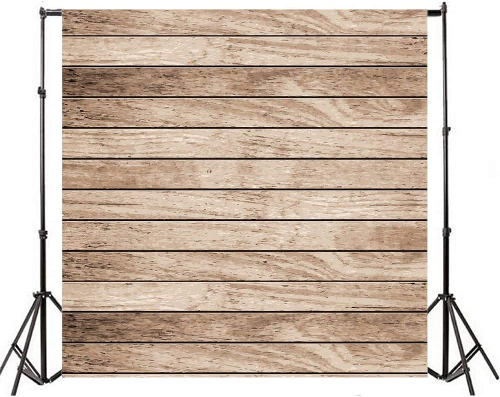 Rustic Old Lateral-Cut Wood Texture Plank Backdrops 8x8ft Countryside Polyester Photography Backdrop Nostalgia Grunge Wooden Board Background Child Adult Pets Portraits Shoot Product Photo