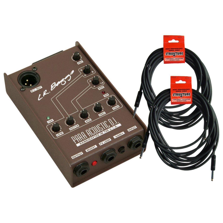 LR Baggs Para DI Parametric EQ Direct Box w/ 2 cables