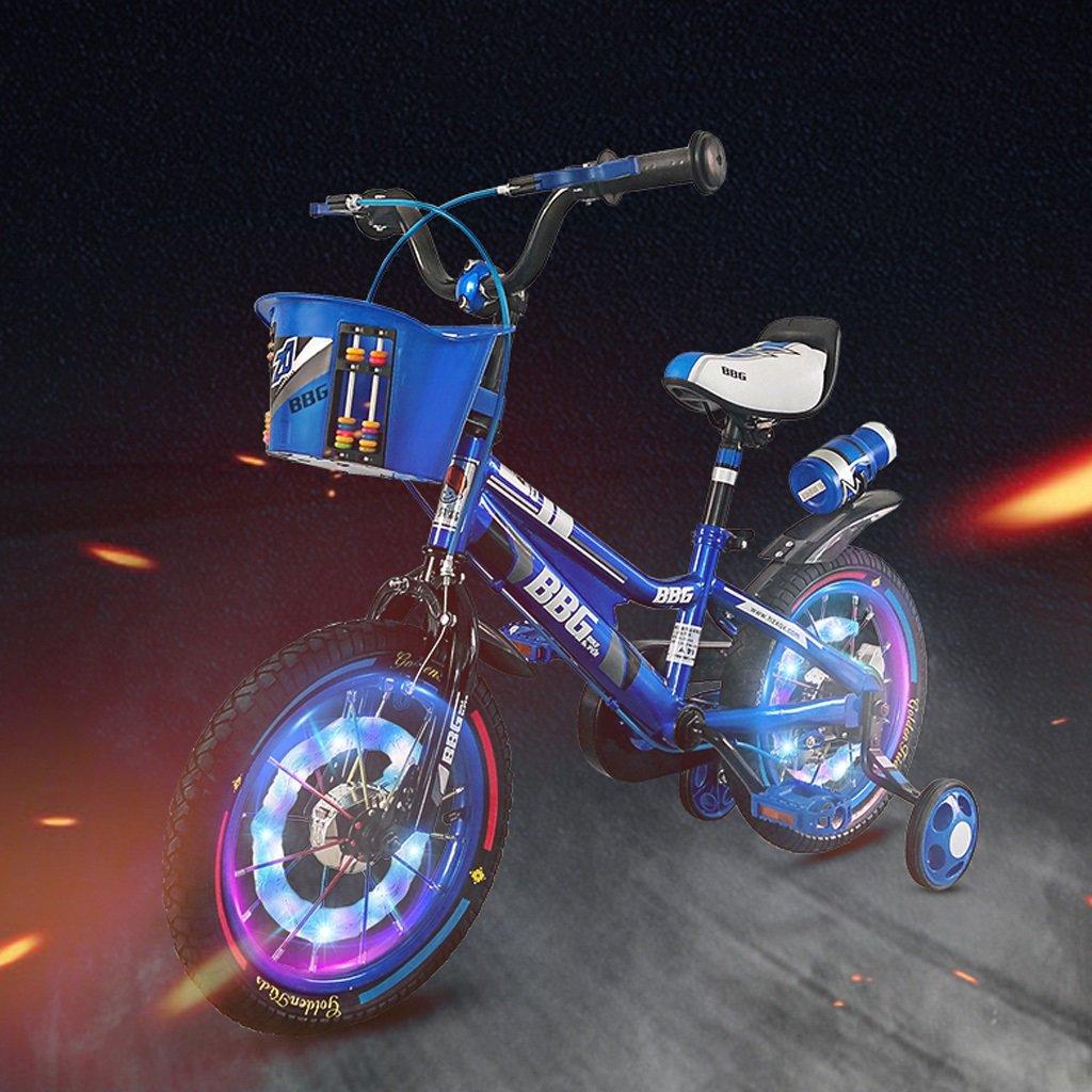 ライトホイール子供用自転車12/14/16インチベビーキャリッジ3-6-8歳の子供ペダルブルー ( Size : 16 inch blue ) B07DP25YRK
