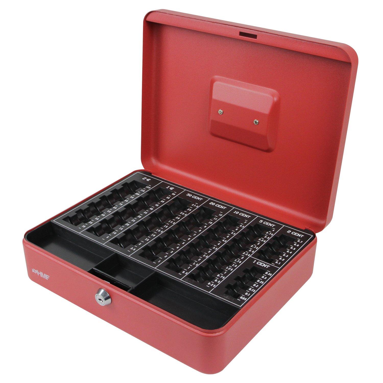 HMF 108-09 Caja de caudales, para monedas 30 x 24 x 9 cm , plata