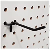 "2"" Black Metal Pegboard Hooks - 40 Pack"